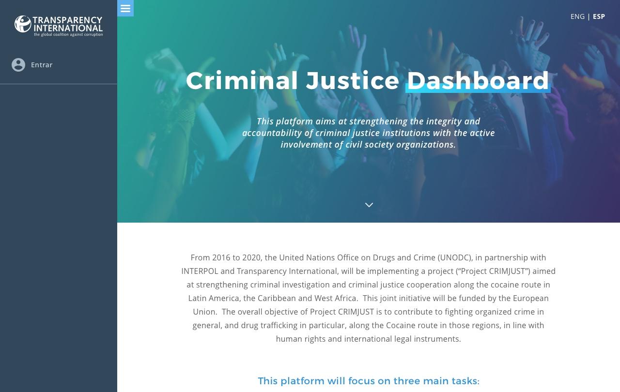 Inicio. Criminal Justice
