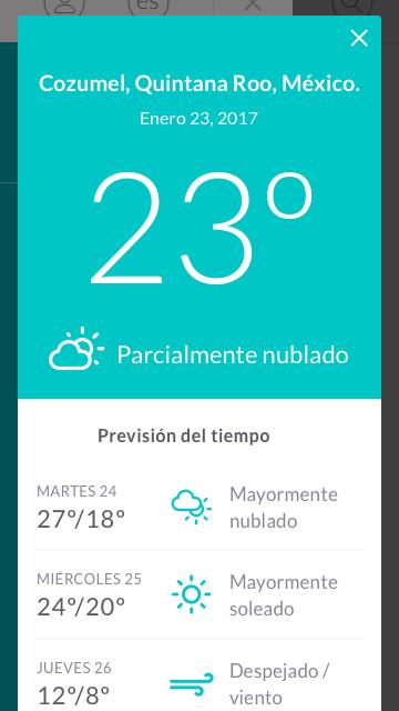 Clima en Cozumel Smart Island