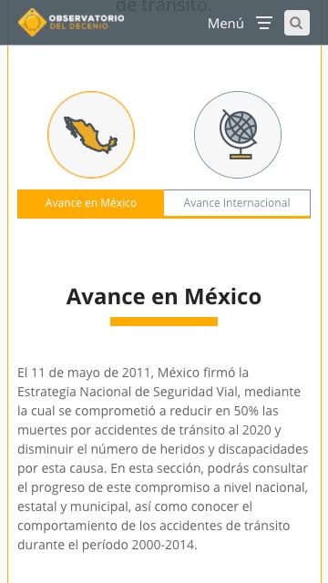 Avance en México, Observatorio del Decenio